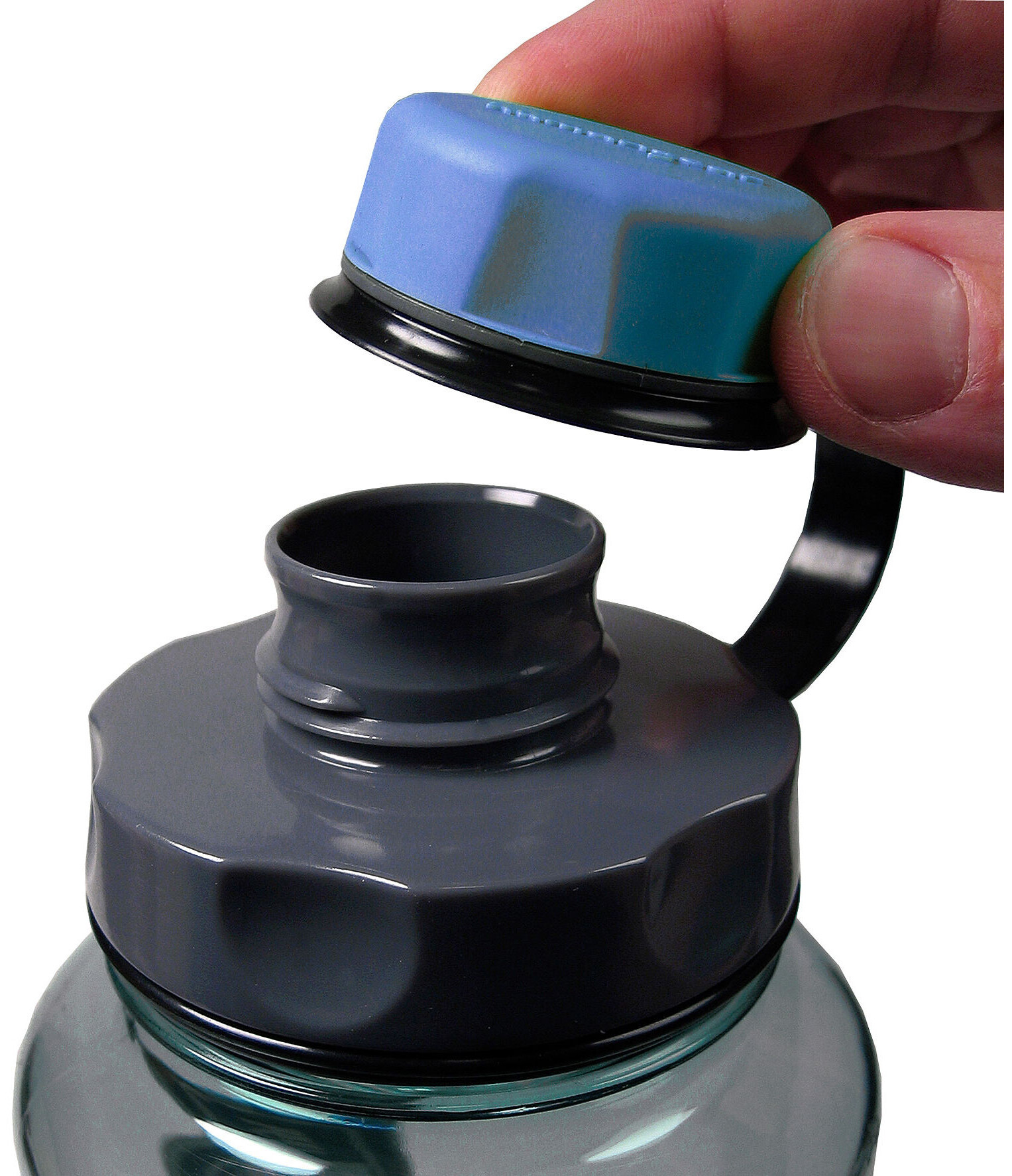 6216f3fa899 humangear Drinking bottle lid capCAP green blue at Addnature.co.uk